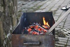 De heldere vlammen Stock Foto