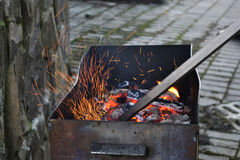 De heldere vlammen Stock Afbeeldingen