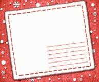 De heldere vorm van de Kerstmisgroet, brief Stock Fotografie