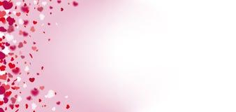 De Heldere Zijkopbal van hartenconfettien Stock Afbeelding