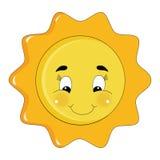 De heldere zon van Sparkly Royalty-vrije Stock Afbeelding