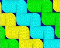De heldergroene gele vormen vatten geometrische moderne achtergrond samen vector illustratie