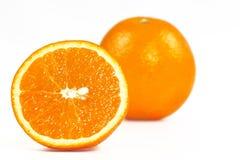 De helft oranje en een geheel Royalty-vrije Stock Fotografie