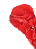 De helft van een hart van bloemblaadjes wordt gemaakt dat Stock Foto