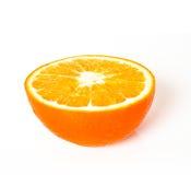 De helft van een sinaasappel Stock Afbeeldingen