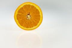 de helft van een sinaasappel Stock Afbeelding