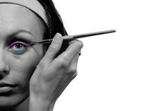 De helft van het mooie vrouwengezicht, make-up Royalty-vrije Stock Afbeelding