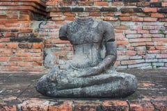 De helft van het Oude standbeeld van Boedha Royalty-vrije Stock Afbeeldingen