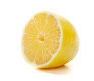 De helft van rijpe citroen Stock Foto's