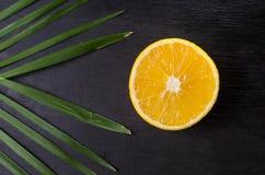 De helft van sinaasappel Stock Fotografie