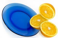 De helft van sinaasappel Stock Foto