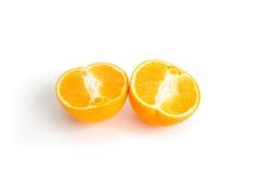 De helft van sinaasappel Stock Afbeeldingen