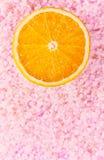 De helft van sinaasappel Stock Foto's