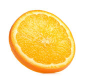 De helft van Sinaasappel op de witte achtergrond Stock Afbeelding