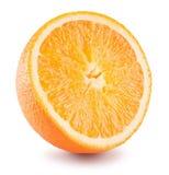 De helft van sinaasappel op een witte achtergrond Royalty-vrije Stock Foto