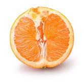 De helft van sinaasappel op een witte achtergrond Stock Foto
