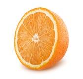 De helft van sinaasappel op witte achtergrond Royalty-vrije Stock Foto's