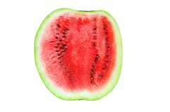 De helft van watermeloen stock foto