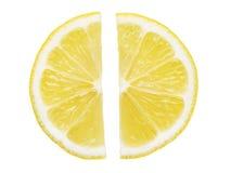 De helften van de citroenplak Royalty-vrije Stock Afbeeldingen