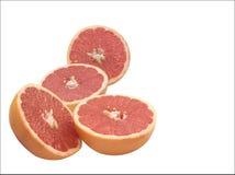 De Helften van de grapefruit Stock Afbeelding