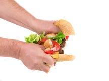 De helften van hamburger Royalty-vrije Stock Foto