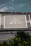 De helihaven door het water Royalty-vrije Stock Fotografie