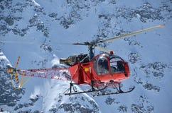 De helikopter van de berg Stock Foto's