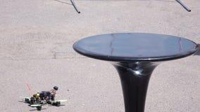 De helikopter van de BestRoboFestconcurrentie ontbreekt stock video
