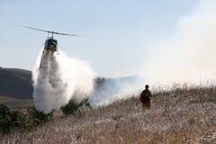 De Helikopter van de brand Stock Afbeeldingen