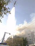 De helikopter van de brand Stock Foto's