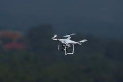 De helikopter van de hommelvierling op landschapsachtergrond Stock Foto's