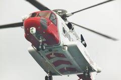 De helikopter van de kustwachtredding in actie schotland het UK Royalty-vrije Stock Fotografie