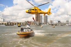 De Helikopter van de redding Stock Foto's