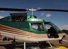 De helikopter van de sheriff stock foto's