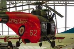 De helikopter van de Westlandwervelwind bij Keizer de oorlogsmuseum van Duxford royalty-vrije stock afbeeldingen