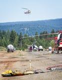 De helikopters van de brandvechter Stock Afbeeldingen