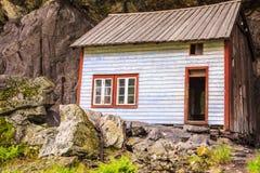 De Helleren-huizen in Jossingfjord, Noorwegen Royalty-vrije Stock Foto's