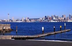 De helling van de boot en horizon, Seattle WA. Stock Afbeeldingen