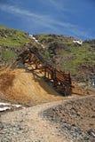 De helling van de goudmijn Stock Foto's