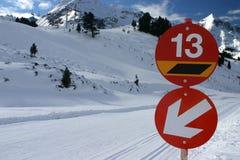 De helling van de ski Stock Fotografie