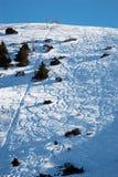 De helling van de ski royalty-vrije stock foto