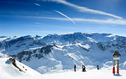 De helling van de ski Stock Foto