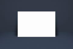 De helling van de Witboekaffiche bij abstracte donkere ruimteachtergrond royalty-vrije illustratie