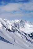 De Helling van het Poeder van de sneeuw Stock Afbeelding