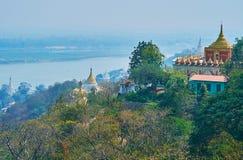 De helling van Sagaing-Heuvel stock fotografie