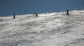 De helling van de skitoevlucht royalty-vrije stock afbeelding