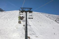 De helling van de skitoevlucht stock fotografie