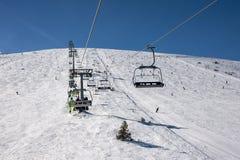 De helling van de skitoevlucht royalty-vrije stock foto's