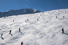 De helling van de skitoevlucht royalty-vrije stock afbeeldingen