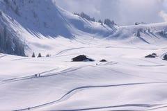 De hellingen van de ski Stock Fotografie